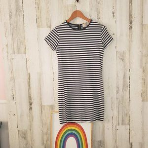 Zara Trafaluc Striped Dress A Line Sz: Med